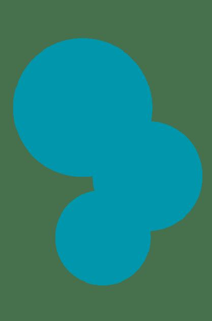 Transparente Kreise - blau